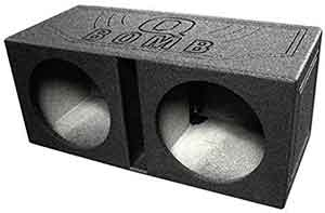 Q Power QBOMB12V Dual 12-Inch Vented Speaker Box